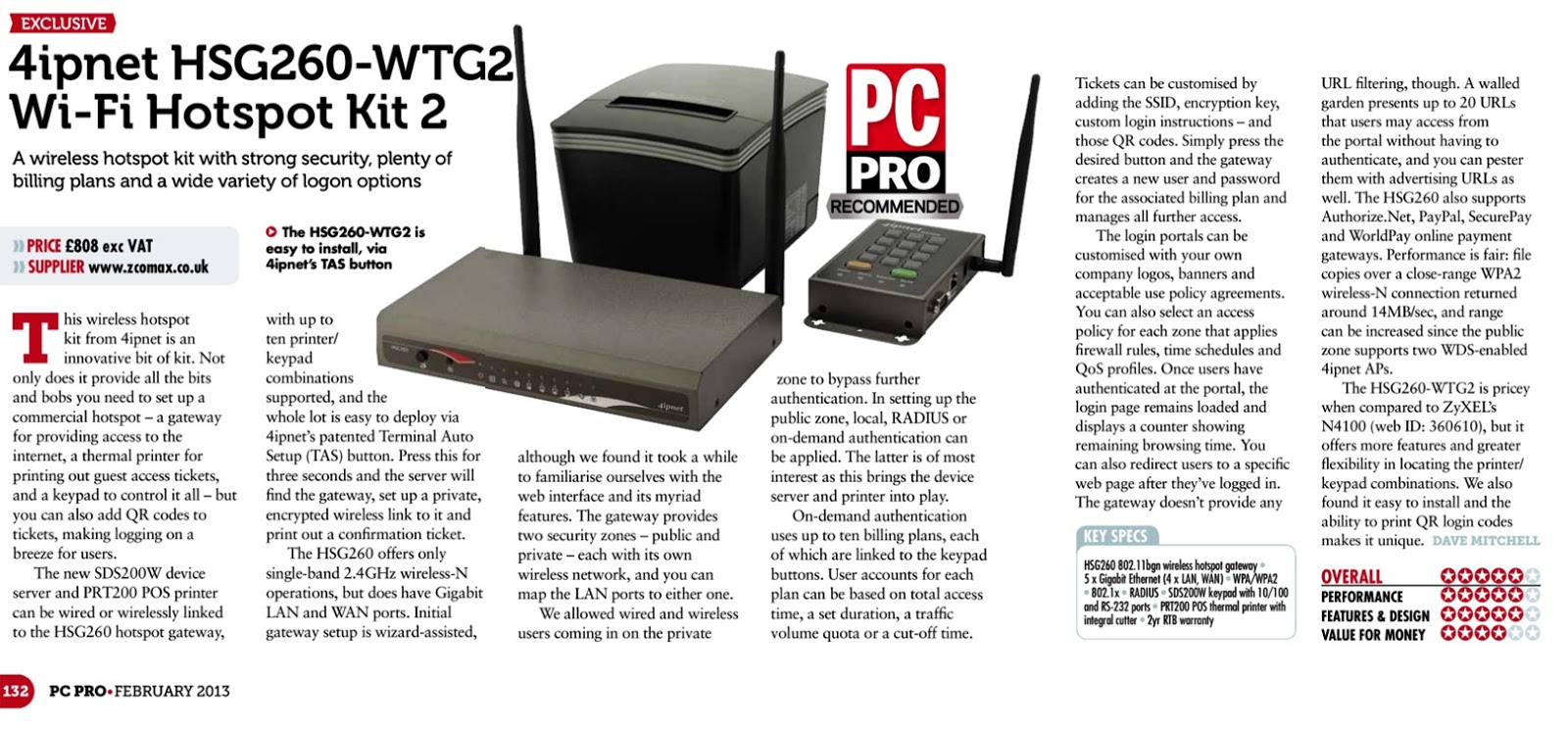 4ipnet awarded PC Pro Recommended and IT Pro Corporate Choice Award ...